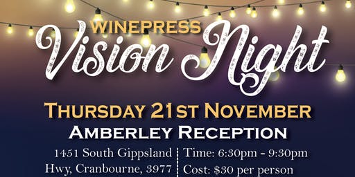 Winepress  Church Vision Dinner