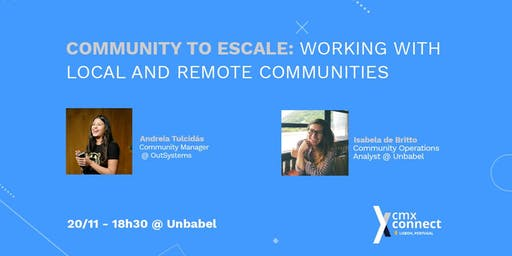 Community to scale: working with remote and local communities