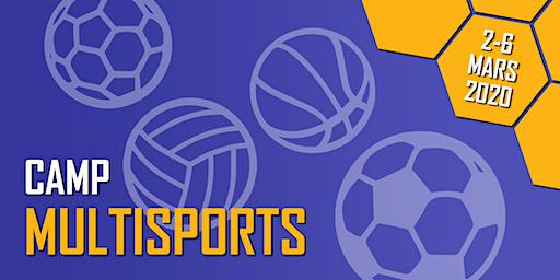 Camp Multisports - Camp de la relâche 2020 (2 au 6 mars 2020) (U5-U14) (Filles & Garçons)