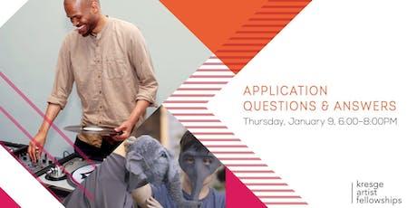 Kresge Artist Fellowship Application Questions & Answers tickets