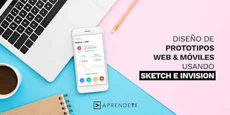 Taller: Diseño de prototipos web y móviles usando Sketch e InVision boletos