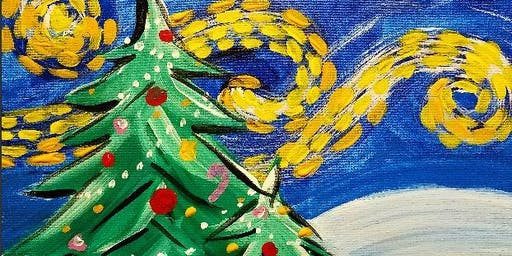 Paint Wine Denver Starry Christmas Wed Dec 11th 6:30pm $35