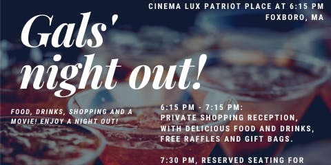 Gals Night Out - Drinks, Shopping and Movie!