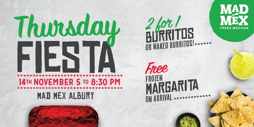 Thursday Fiesta | Mad Mex Albury