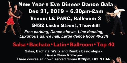 New Year's Eve Salsa, Latin and Ballroom Dinner Dance Gala, Dec 31, 2019