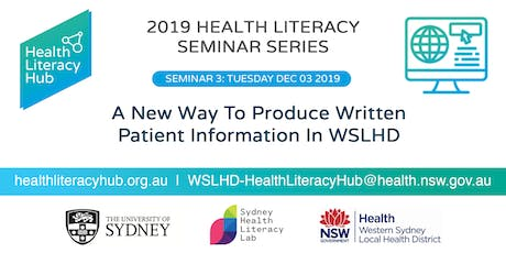 Seminar 3: A new way to produce written patient information in WLSHD tickets