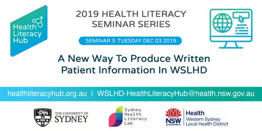 Seminar 3: A new way to produce written patient information in WLSHD