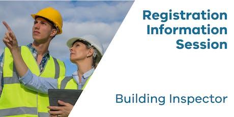 Registration Information Session: Building Inspector tickets