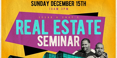 Cesar (@flipping_nj) and DJ Envy Real Estate Seminar NYC tickets