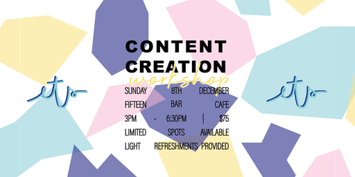 Content Creation Workshop: Holiday Edition