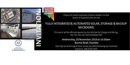 Official Opening of South Australian Produce Market Limited Microgrid