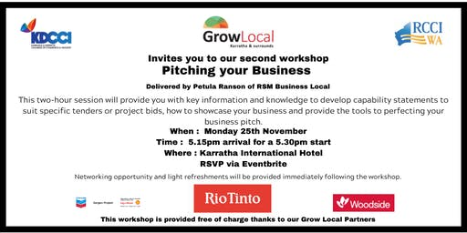 Grow Local Program - Pitching your Business