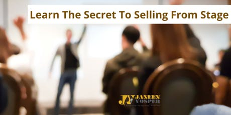 Learn the Secrets to Selling From Stage - 1-Day Masterclass for Up-and-Coming Speakers tickets