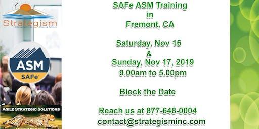 SAFe® 4.0 Advanced Scrum Master & SASM weekend Training in Fremont-Nov 16,17-2019