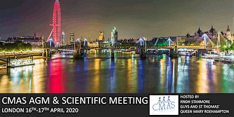 CMAS AGM & SCIENTIFIC MEETING 2020 tickets