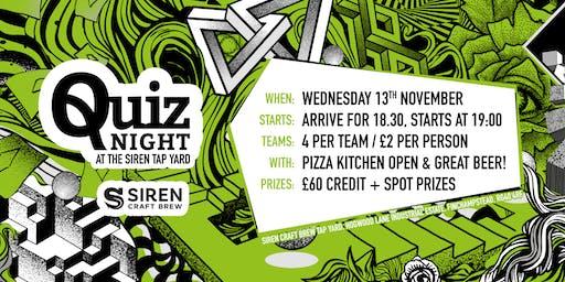 Siren Tap Yard Quiz Night