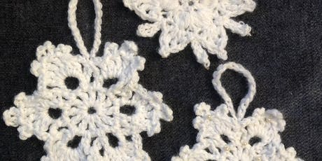 Crocheted Christmas Snowflakes tickets