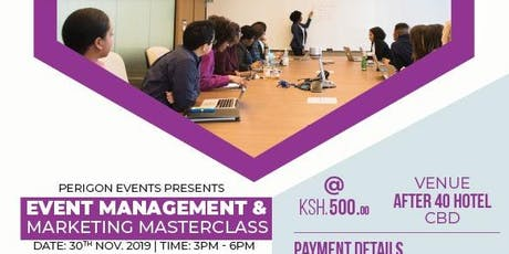 EVENT MANAGEMENT AND MARKETING MASTERCLASS tickets