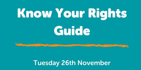 Know Your Rights Launch  tickets