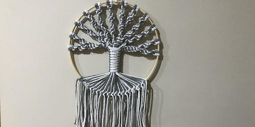 Macrame tree-of-life wall hanging!