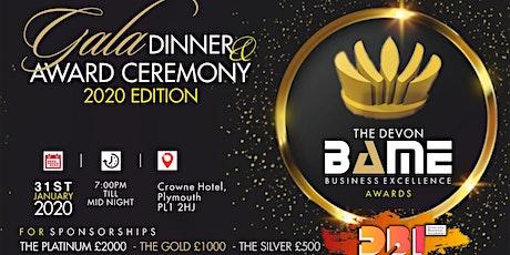 The Devon BAME Business Award & Gala Dinner 2020 Edition tickets