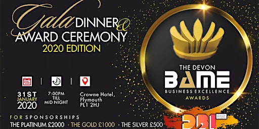 The Devon BAME Business Award & Gala Dinner 2020 Edition