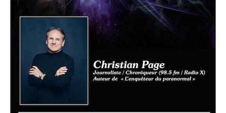 Christian Page - Conférence Voyage dans l'inconnu… billets