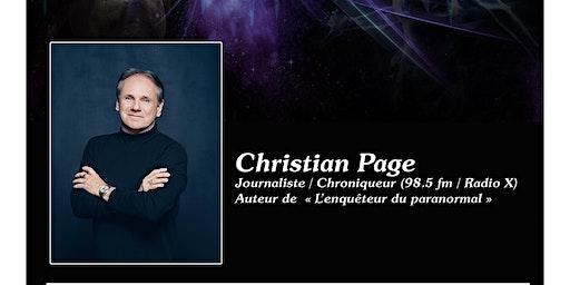 Christian Page - Conférence Voyage dans l'inconnu…