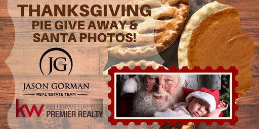 Thanksgiving Pie Giveaway & Photos with Santa!