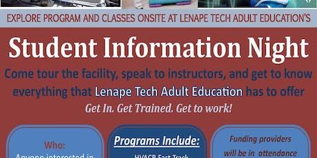 Lenape Tech Adult Education Student Info Night & Open House tickets