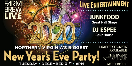 Farm Brew LIVE's New Year's Eve Party