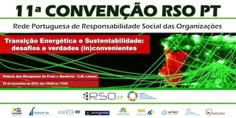 11ª CONVENÇÃO ANUAL DA REDE RSO PT bilhetes