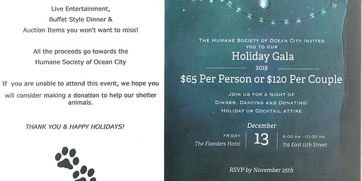 Humane Society of Ocean City's Holiday Gala