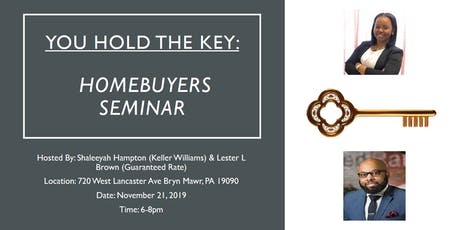 You hold the key - Homebuyers seminar tickets