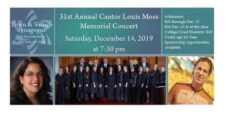 31st Annual Cantor Louis Moss Memorial Concert tickets