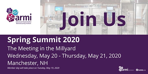 2020 ARMI | BioFabUSA Spring Summit: Exhibit & Sponsorship Registration
