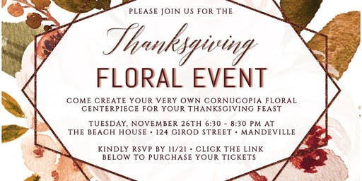 Thanksgiving Floral Event