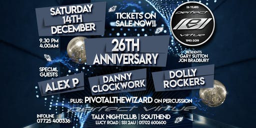 Perfect Virtue 26th Anniversary / Talk Nightclub Southend / 14.12.19