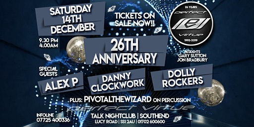 Perfect Virtue 26th Anniversary / Talk Nightclub Southend / 14.12.19