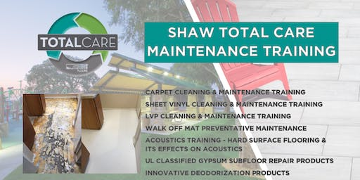 Shaw Total Care Maintenance   Repair Training  - Wed, Dec. 4, 1:00 to 4:00