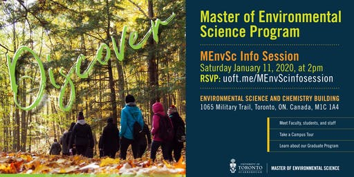 Master of Environmental Science (U of T) Info Session