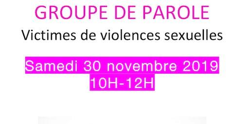 Groupe de Parole pour les victimes de violences sexuelles et les proches