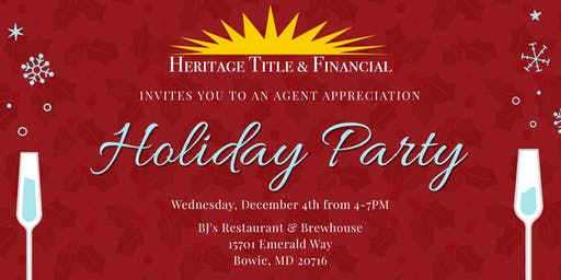 Real Estate Agent Appreciation Holiday Party