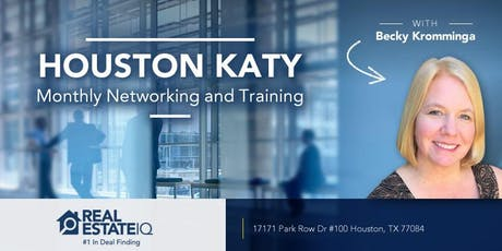 Houston - Katy Monthly Real Estate Networking and Deal Finding Training tickets