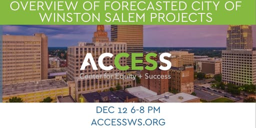 Overview of Forecasted City of Winston-Salem Projects