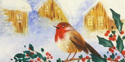 Little Robin 'Paint, Prosecco & Pies' Brush Party - Milton Keynes