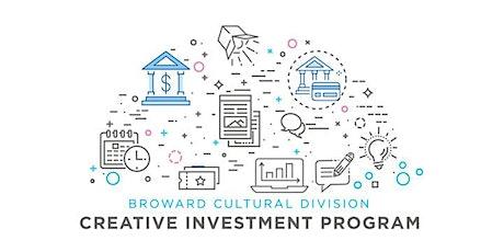 Grant Application Workshop: Creative Investment Program (CIP) tickets