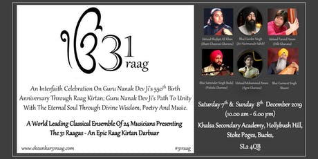 31 Raag Darbar Interfaith tribute in Celebration of Guru Nanak Dev Ji's 550 Birth Anniversary tickets