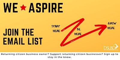 WE*Aspire: JOIN THE EMAIL LIST