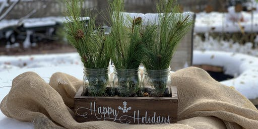 Holiday Mason Jar Centerpiece